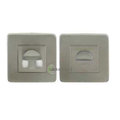 Main photo of LocksOnline Stainless Steel Square Bathroom Door Lock Set