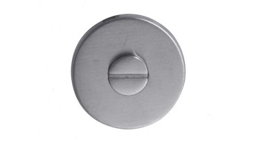 LocksOnline Stainless Steel Bathroom Door Lock Set Cover - No Indicator