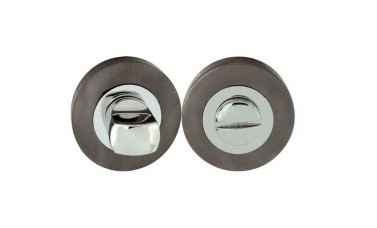 "LocksOnline Circular Framed ""Block"" Bathroom Door Lock Set"