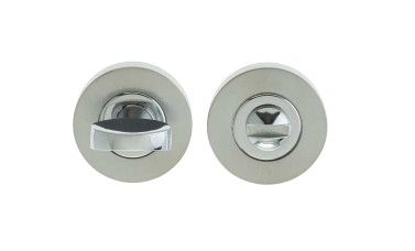 "LocksOnline Circular Framed ""Tab"" Bathroom Door Lock Set (38mm diameter)"