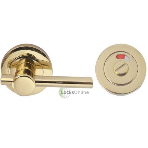"Main photo of LocksOnline ""Easy Turn"" Bathroom Door Lock Set with Indicator"