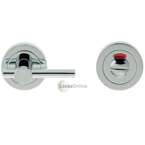 "LocksOnline ""Easy Turn"" Bathroom Door Lock Set with Indicator"