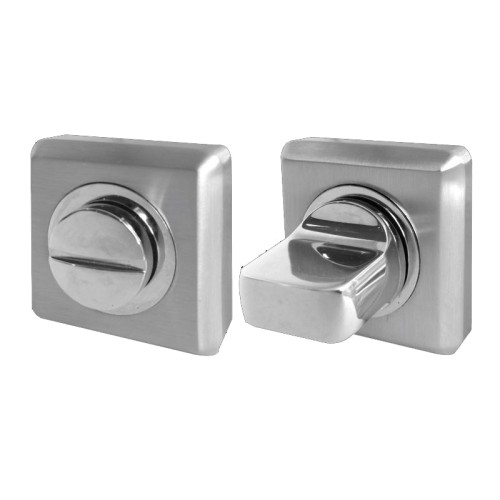 Main photo of LocksOnline Square Bevelled Bathroom Door Lock Set