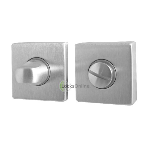 "Main photo of LocksOnline ""Rombo"" Square Bathroom Door Lock Set"