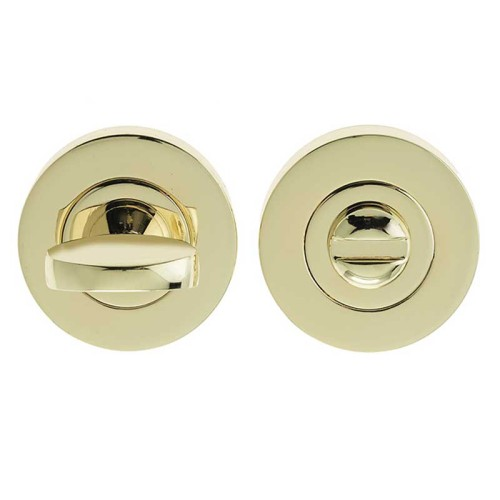 "LocksOnline Circular Framed ""Tab"" Bathroom Door Lock Set"