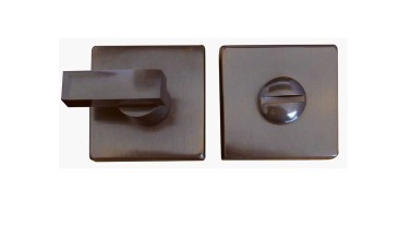"LocksOnline ""Kubus"" Square Bathroom Door Lock Set"