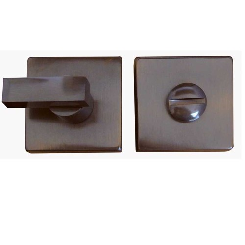 "Main photo of LocksOnline ""Kubus"" Square Bathroom Door Lock Set"
