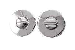 LocksOnline Blank Circular Bathroom Door Lock Set
