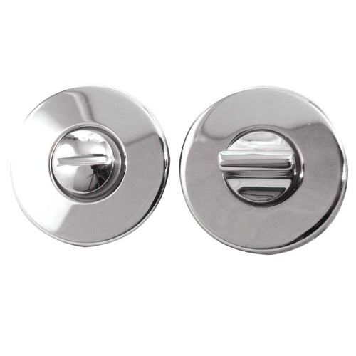 Main photo of LocksOnline Blank Circular Bathroom Door Lock Set