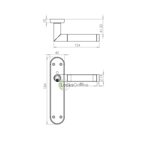 "LocksOnline ""Mitred"" Door Handle Set on Backplate"