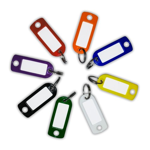 Main photo of Coloured Key Tags with Label Window