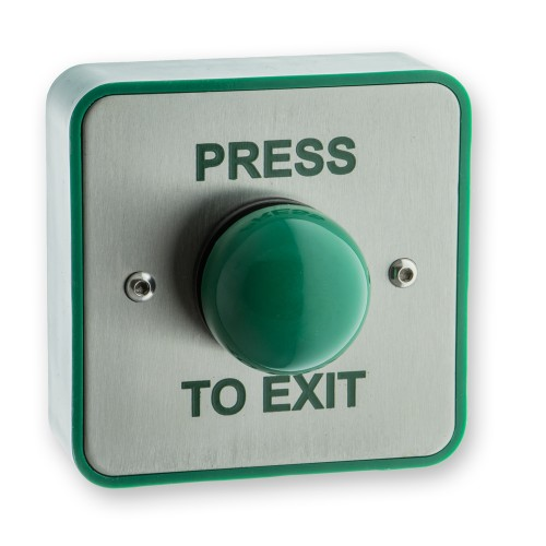 Main photo of LocksOnline High-Impact Green Dome Exit Button