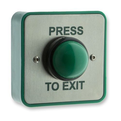 Main photo of LocksOnline High-Impact Weatherproof Green Dome Exit Button