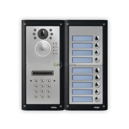 Videx Professional Video Intercom Door Entry Kit with Keypad Entry