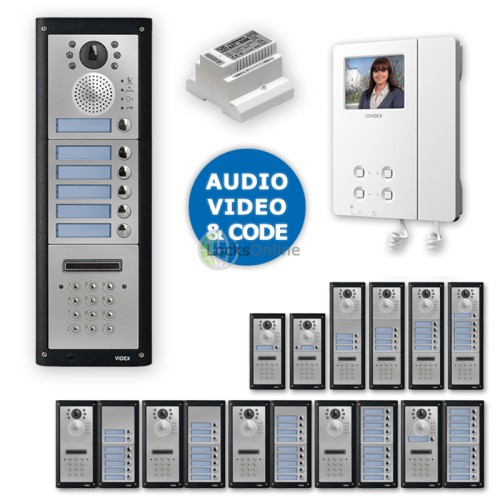 Main photo of Videx Professional Video Intercom Door Entry Kit with Keypad Entry