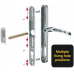 Yale 92mm PZ Retro uPVC Door Handle Set - 270mm (variable fixings)
