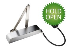 Exidor Universal Hold-Open Electromagnetic Overhead Door Closers