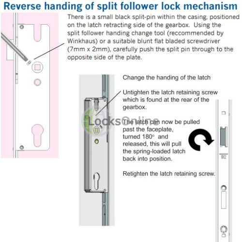 Winkhaus Latch & Deadbolt Overnight Lock