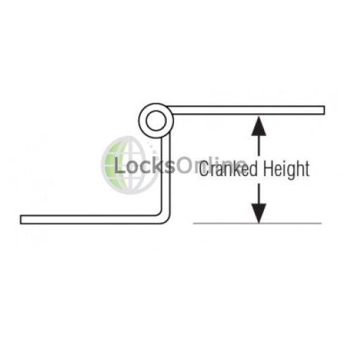 Cranked Hinges Stainless Steel, Grade 304