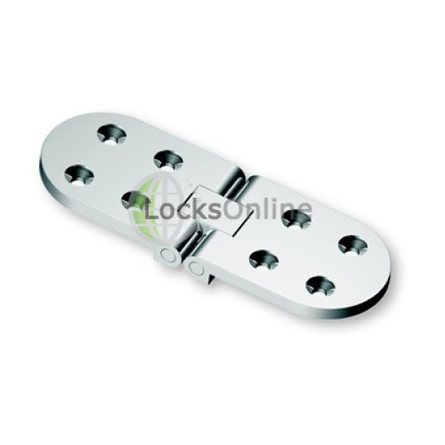 Main photo of Curve Mirror Polished 316  Stainless Steel Flush Hinge