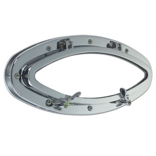 Main photo of Elliptical Opening Porthole in Brass or Chromium plated