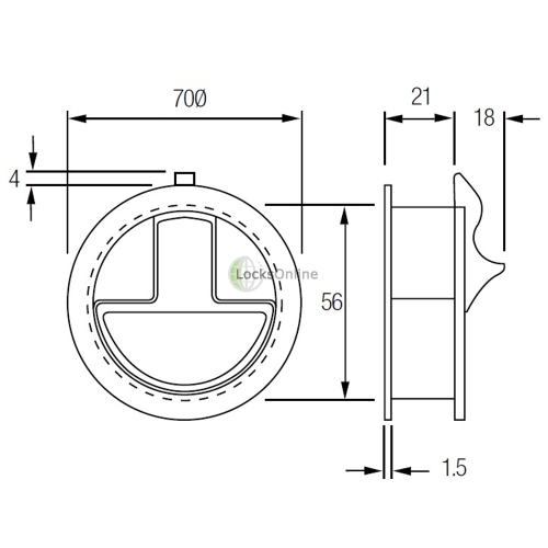 Flush Fitting Hatch Securing Device