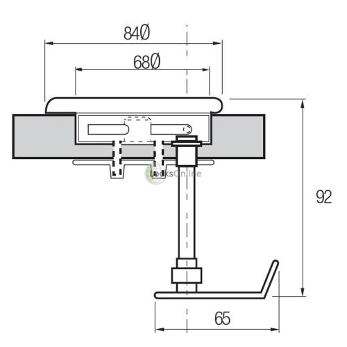 Marine Flush Fittings Hatch Locking Device with cover