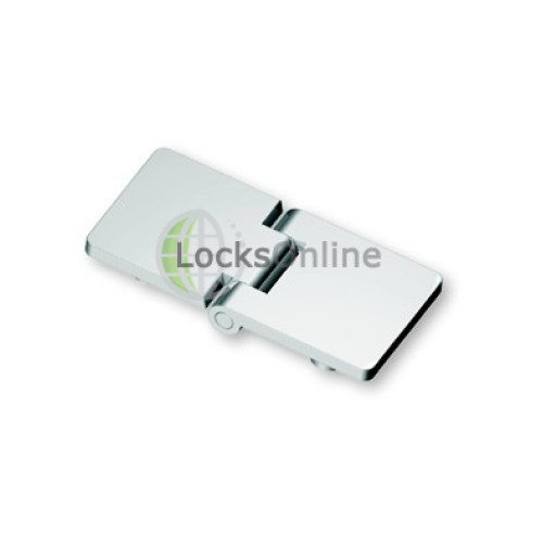 Main photo of Mirror Polished 316 Stainless Steel Flush Hinge With Concealed Fixing