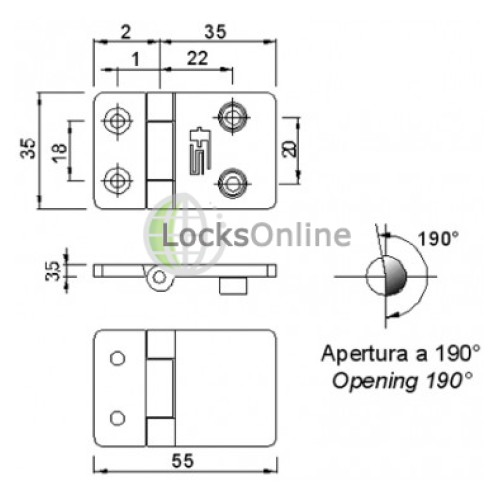 Buy Mirror Polished 316 Stainless Steel Hinge With