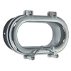 Modern Oval Opening Porthole in Brass or Chromium plated