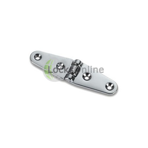 Main photo of Oval Double Tail Hinges in Brass or Chromium plated