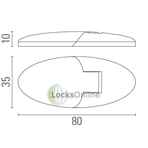 Oval Hatch Hinge with Concealed Fixings