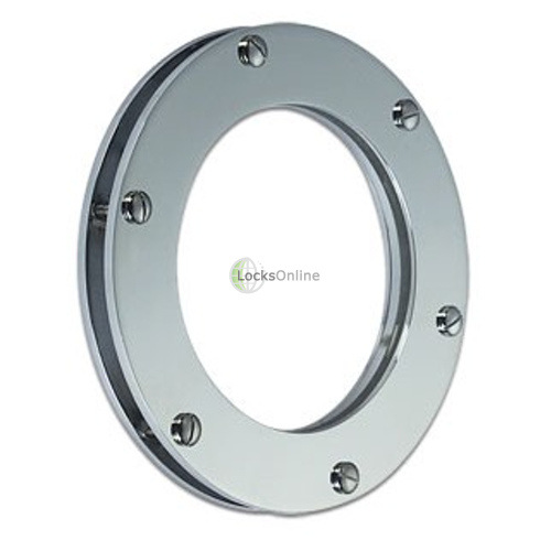 Main photo of Slim Round Fixed Porthole in Brass or Chromium plated