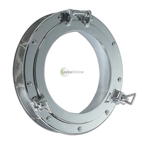 Main photo of Round Opening Porthole in Brass or Chromium plated