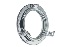 Modern Classic Round Opening Porthole in Brass or Chromium plated
