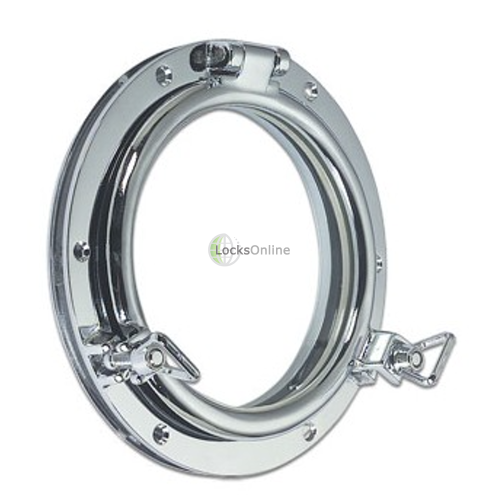 Main photo of Modern Classic Round Opening Porthole in Brass or Chromium plated