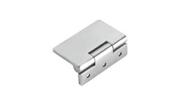 Flush Hinge in Grade 316 Stainless Steel - Open Side