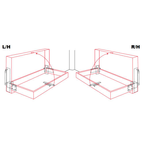 Drop Down Bunk Bed Hinge Set 2