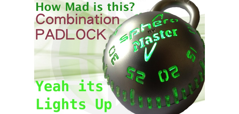 It Lights Up - Combination Padlock - Exclusive at LocksOnline