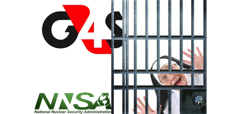 G4S Security gets the sack after a Nun breaks in to a Nuclear Establishment.