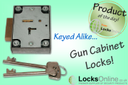 Keyed Alike Gun Cabinet Locks
