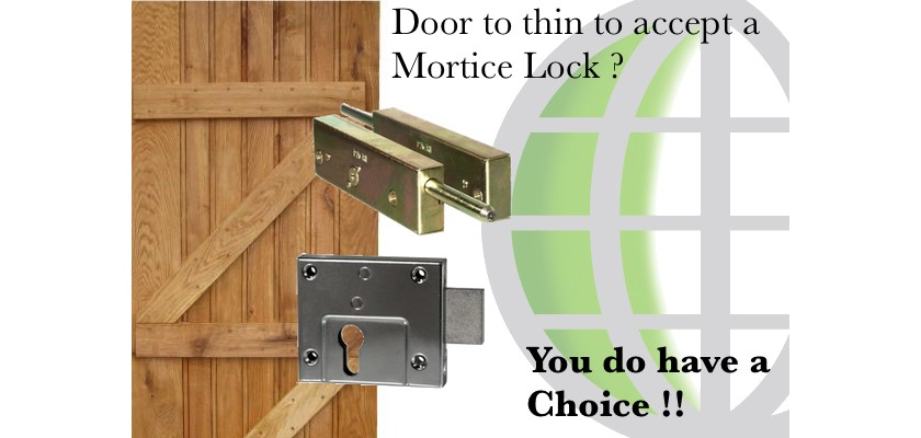 Is your Door too Thin to take a Mortice Lock ?