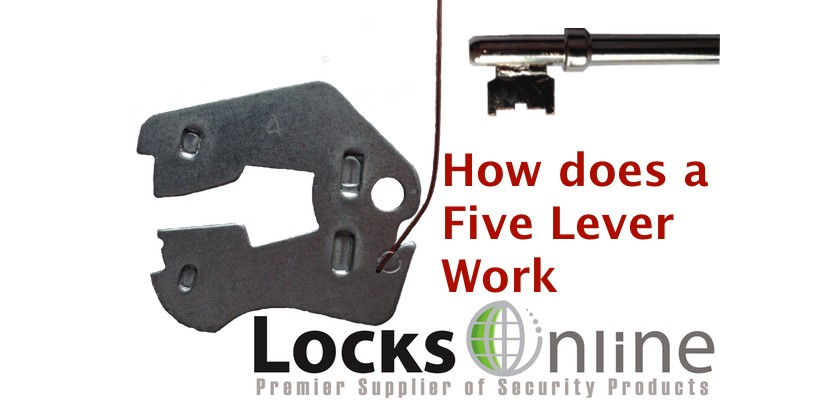 How does a five lever lock work?