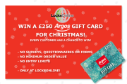 Win a Free £250 Argos Gift Card at Locks Online!