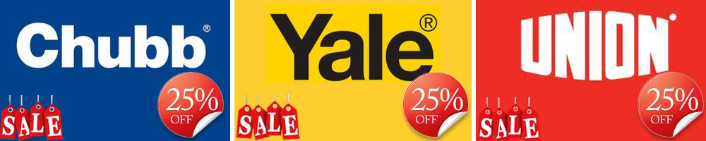 25% Off Yale, Chubb & UNION