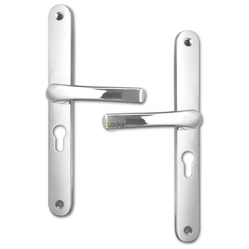 ASEC 48mm PZ uPVC Lever Handles - 270mm (240mm fixings)