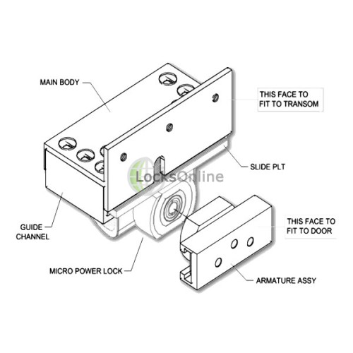 Micro-Mag Mini Maglock Kit for Outward Opening Doors