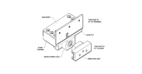 Buy Micro Mag Mini Maglock Kit For Outward Opening Doors