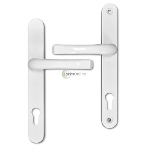ASEC 92mm PZ uPVC Lever Handles- 240mm (211mm fixings)