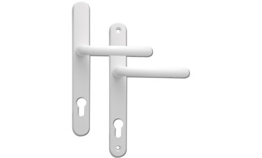 Fab & Fix Offset 92/62 PZ Ashford uPVC Handles - 243mm (211mm fixings)